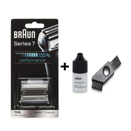 Braun Series 7 70S Shaver Replacement Foil and Cutter Pack with Braun Oil and Cleaning Brush - Nieboo