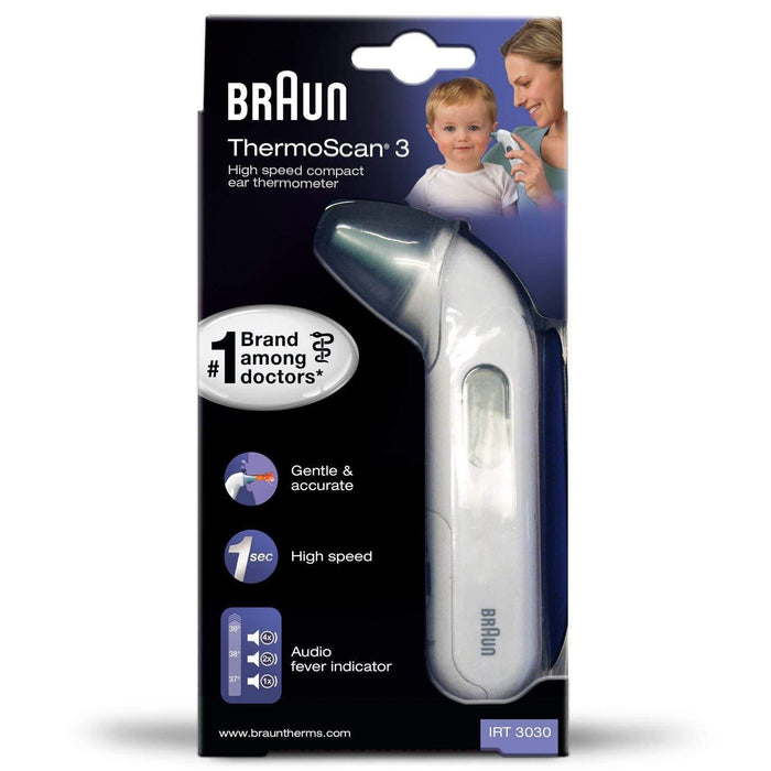 Braun IRT3030 ThermoScan 3 Infrared Ear Thermometer - Nieboo