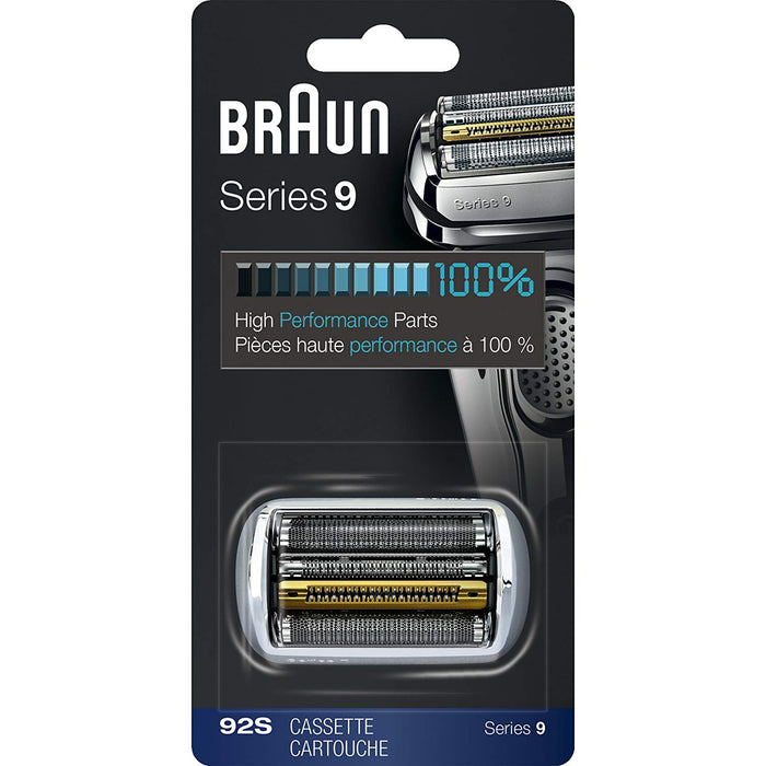 Braun Series 9 92S Shaver Replacement Foil and Cutter Pack with Braun Oil and Cleaning Brush - Nieboo