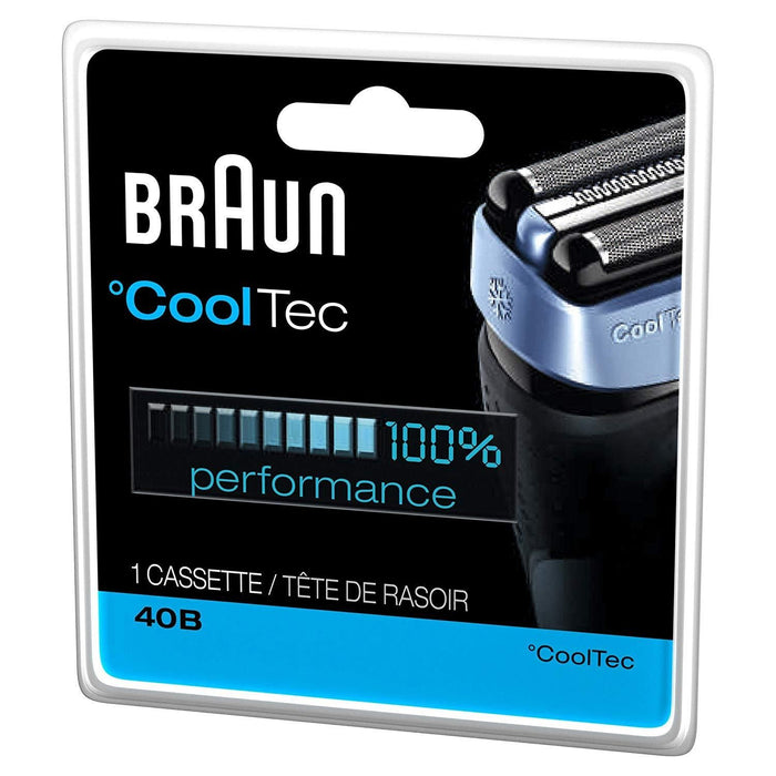 Braun 40B Replacement Blade Head for CoolTec Shavers - Nieboo