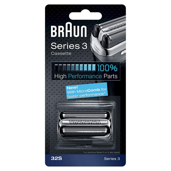 Braun Series 3 32S Shaver Replacement Foil and Cutter Pack with Braun Oil and Cleaning Brush - Nieboo