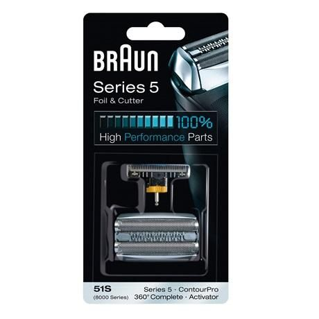 Braun 51S 8000 Series 360 Complete Foil and Cutter Pack - Nieboo