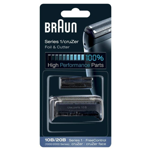 Braun 10B Replacement Foil and Cutter Cassette Multi Black BLS Combi Pack - Nieboo