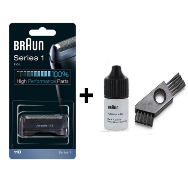 Braun Series 1 11B  Shaver Replacement Foil and Cutter Pack with Braun Oil and Cleaning Brush - Nieboo