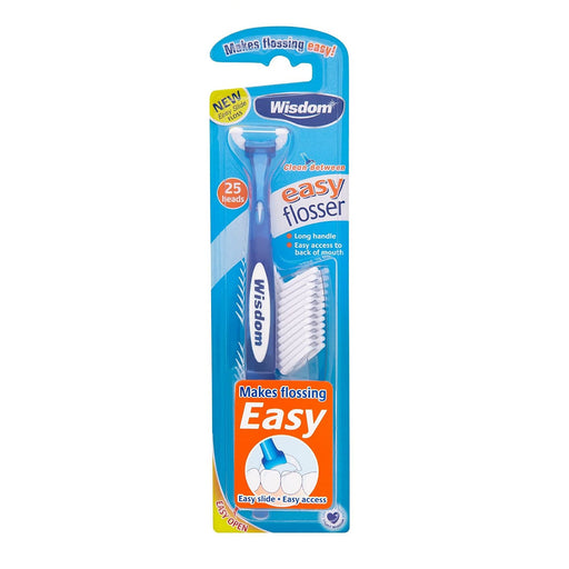 Wisdom Clean Between Easy Floss Daily Flosser 25 Heads - Random Colour - Nieboo