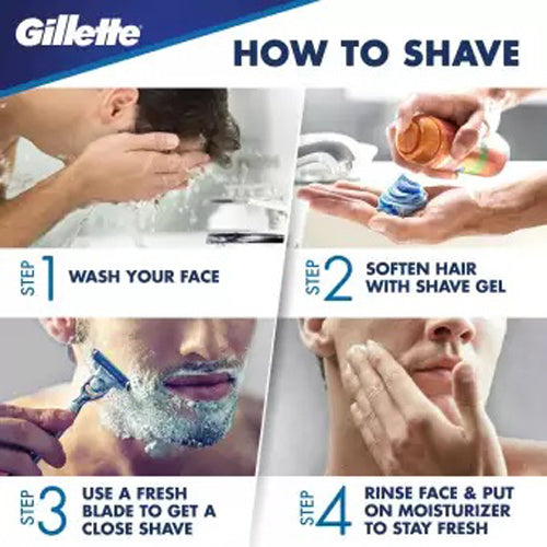 Gillette Fusion ProGlide Power Men's Razor Blade Pack of 4 GILFUS09 - Nieboo