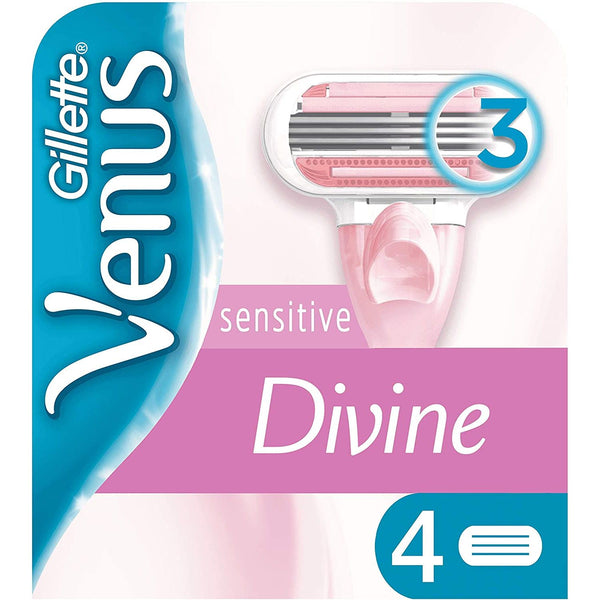 Gillette Venus Divine Sensitive Razor Blades 4 per pack