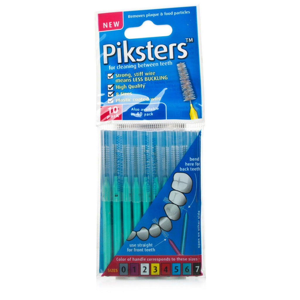 Piksters Green Size 6 Interdental Brush - Pack of 10 Brushes ( Four Pack ) - Nieboo