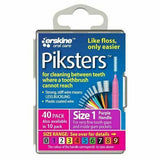 Piksters Interdental Brush - Size 1 Purple 0.50mm - 40 Brushes Per Pack - Nieboo