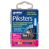 Piksters Interdental Brush - Size 7 Black 1.1mm - 40 Brushes Per Pack - Nieboo
