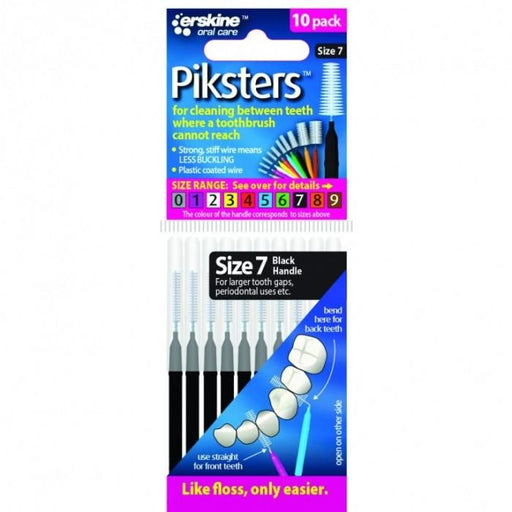 Piksters Interdental Brush Black Size 7 ( Eight Pack ) - Nieboo