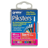 Piksters Interdental Red Handle Size 4 Brush - Pack of 40 - Nieboo