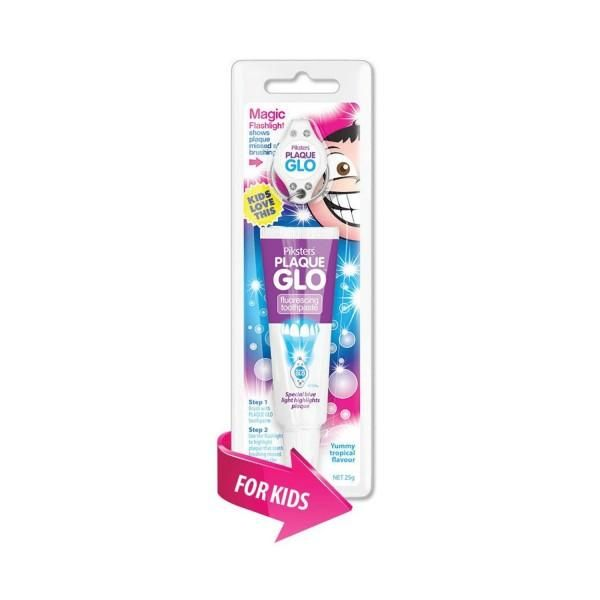 Piksters Plaque Glo Child Disclosing Yummy Tropical Flavor Toothpaste - 25g (7 Pack) - Nieboo