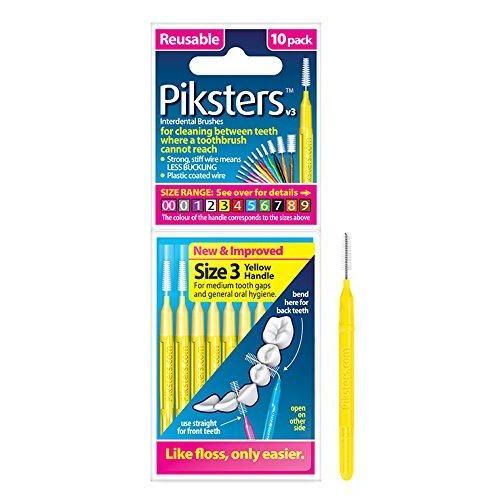 Piksters Yellow Interdental Brushes (3 Pack) - Nieboo