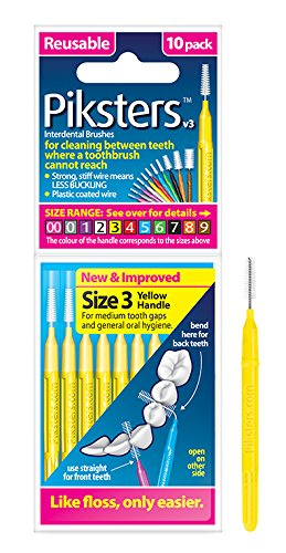 Piksters Yellow Interdental Brushes (2 Pack) - Nieboo