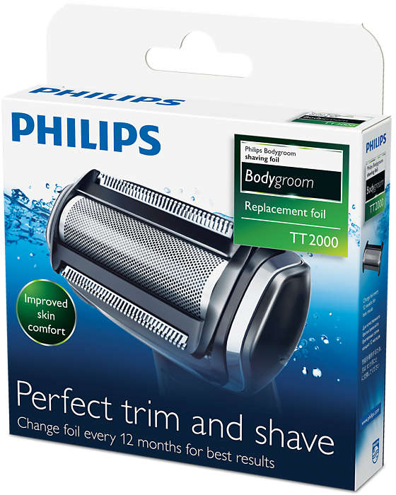 Philips TT2000/51 Replacement Foil Head For Philips BodyGroom Shaver Range - Nieboo