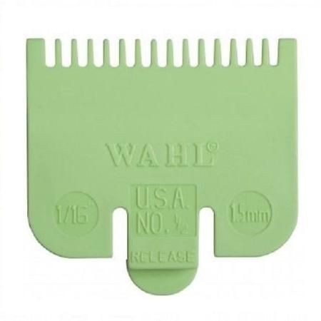 Wahl Standard Fitting Attachment Comb Number 1/2 1.5mm Green