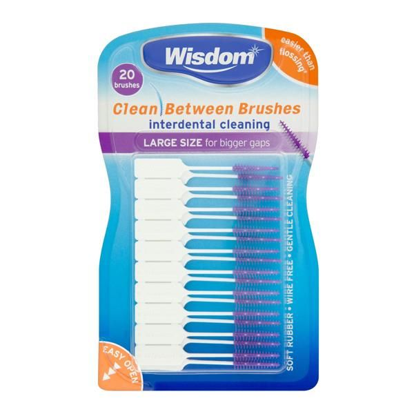 Wisdom Clean Between Interdental Large Purple Brush - Nieboo