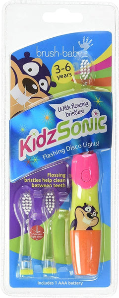 Brush-Baby KIDZSONIC 3-6 YEAR Electric TOOTHBRUSH PINK