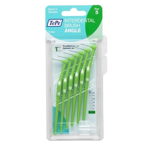 TePe Angle 6 Green Interdental Brushes - 0.8mm - Nieboo