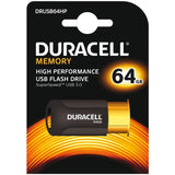 Duracell High Performance 64 GB Capless USB 3.0 Flash Drive - Copper/Black