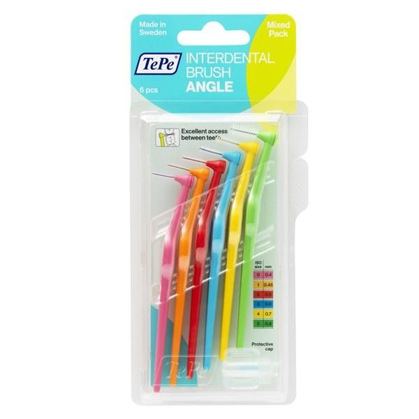 TePe Angle Interdental Brushes Mixed Pack ( Six Pack ) - Nieboo