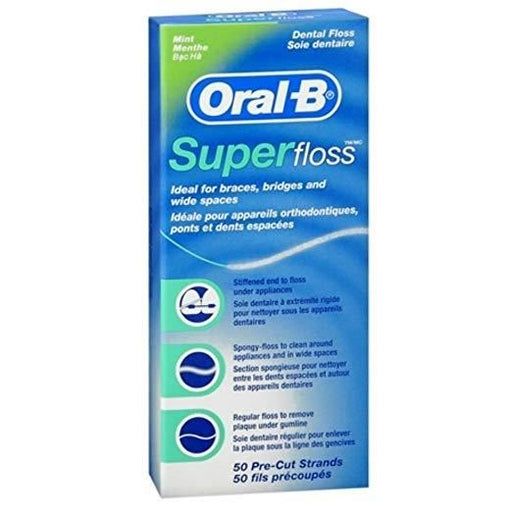 Oral-B Super Floss for Braces, Bridges and Wide Gaps - Nieboo