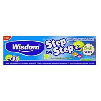 Wisdom 75ml Step by Step 0 to 3 Years Fluoride Toothpaste