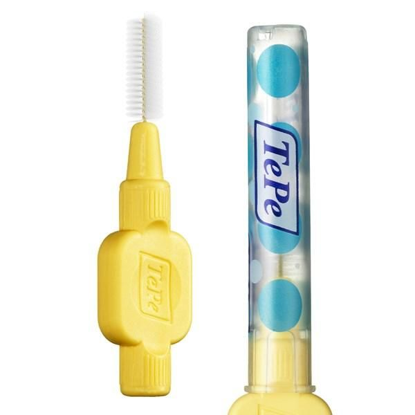 TePe Interdental Brushes Yellow Extra Soft - 0.7mm ( Seven Pack ) - Nieboo