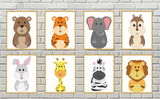 Nursery decor - downloadable animal prints