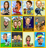 Custom caricature from photo