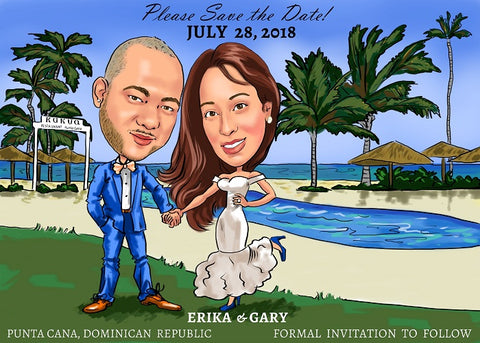Couple and Wedding caricatures