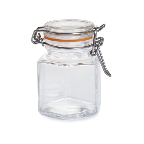 Hexagonal Flip Top Spice Jar