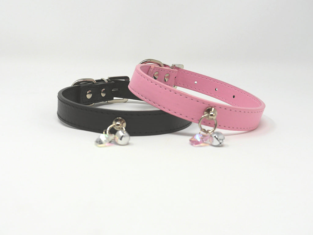 Faux Leather Kitten Play Collars