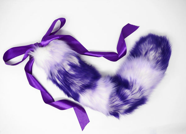 Striped Lilac & Purple Ombre Kitten Play Tail