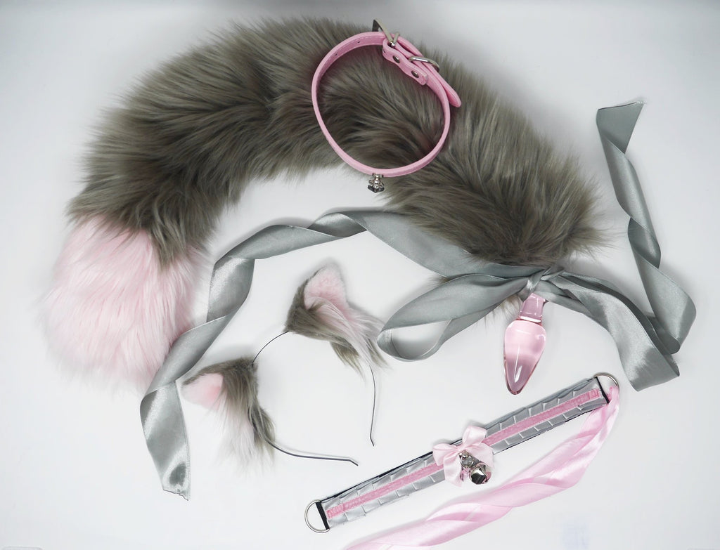 Baby Pink & Ash Grey Kitten Play Set