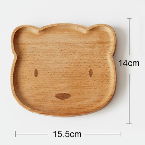 Wooden Plates | Kitty and Bear