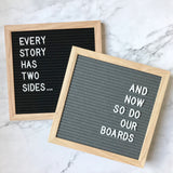Double Sided Letter Board Set | Black and Grey