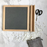 Letter Board Set | Grey