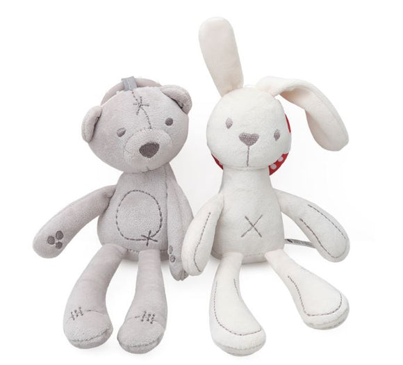 Bunny and Bear Hanging Plushies