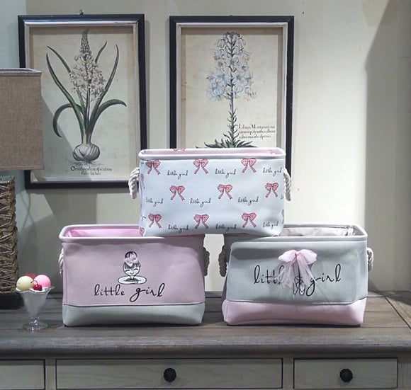 Wholesale | Little Girl Lined Storage Baskets