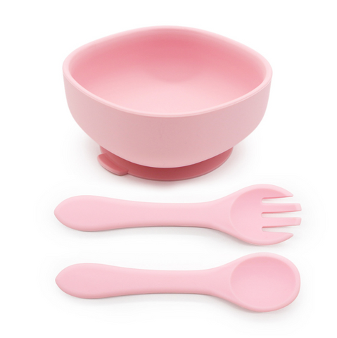 Silicone Suction Bowl Set | Pink