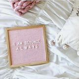 Double Sided Felt Letter Board | Pink & Grey