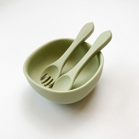 Silicone Suction Bowl Set | Pistachio