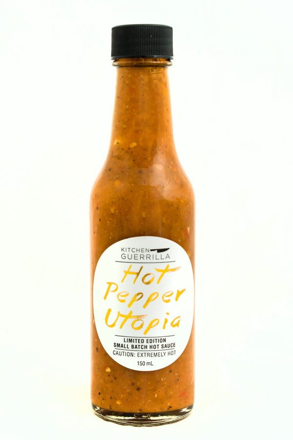 Hot Pepper Utopia Hot Sauce - Kitchen Guerrilla