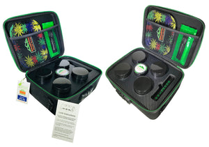 Flower Stash Box  Sport Version with Carrying Strap - (Black)