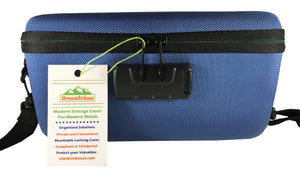 Flower Stash Box  Sport Version with Carrying Strap - (Blue)