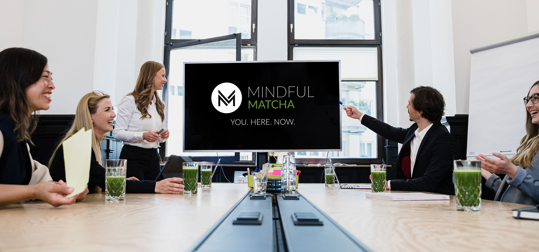 Virtuelles Teamevent mit Mindful Matcha