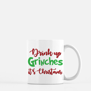 Drink Up Grinches Coffee Mug Black & White