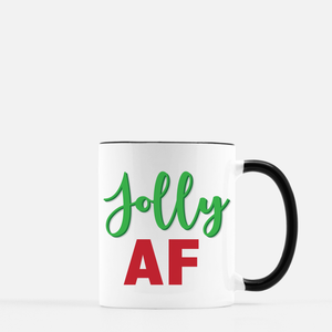 Jolly AF Coffee Mug Black & White